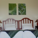 Twin room at Nabana Lodge with ceiling fan and safe at Nabana Lodge, affordable accommodation near Hazyview
