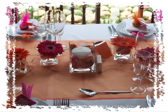 Table Decoration for Garden Wedding at Nabana Lodge
