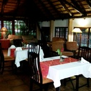 Indoor dining area at Nabana Lodge