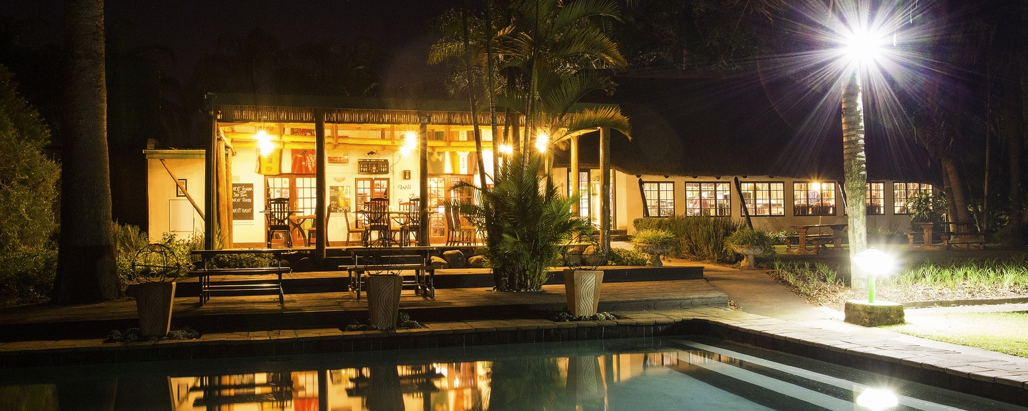 Accommodation Hazyview - Nabana Lodge restaurant deck