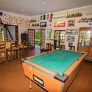 Pool table in cozy pub environment at Sportmans Pub at Nabana Lodge near Hazyview