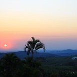 Sunrise over Nabana Lodge