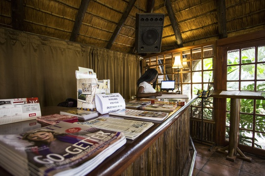 Hazyview Lodge Accommodation reception, Nabana Lodge reception and Concierge service