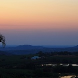 Dawn breaking over Nabana Lodge