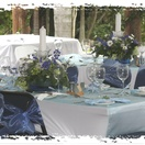 Wedding reception set up on the deck at Nabana Lodge