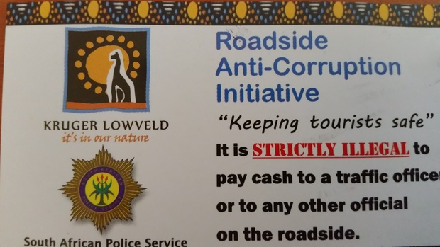 Campaign against corrupt traffic officials in and around Hazyview