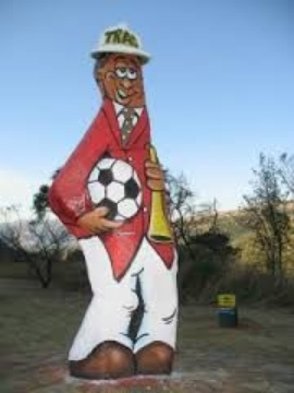 Old Joe on the N4 in Schoemanskloof as football fan