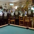 Mad Dogs Bikers in wedding finary at Nabana's Sportman's Pub