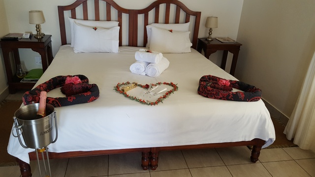 Romantic room setting at Nabana Lodge on Panorama route near Kruger Park
