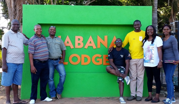 Post Indaba delegates from Zambia at Nabana Lodge