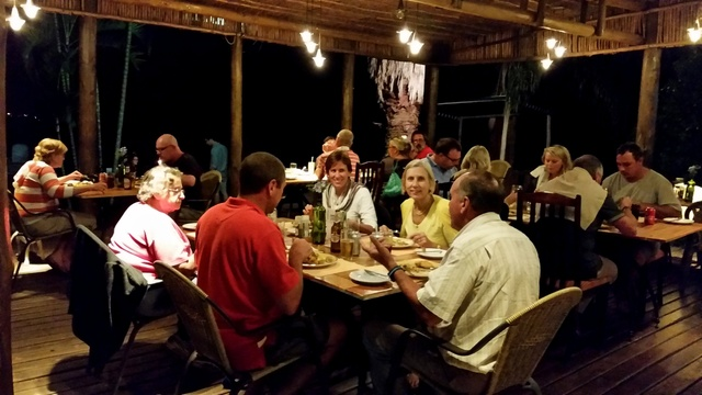Monthly curry buffet enjoyed by guests of Wild Thyme Restaurant at Nabana Lodge
