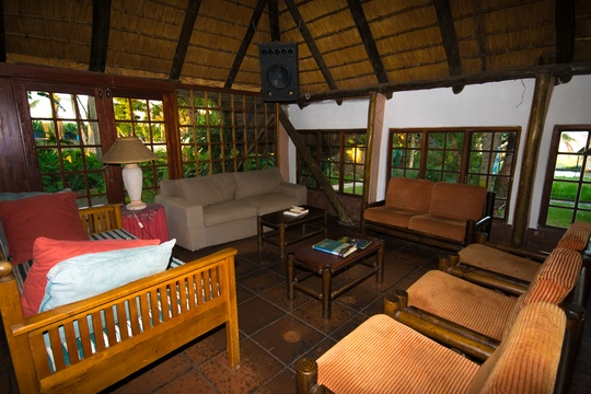 lounge area with free wi fi at Nabana Lodge near Hazyview