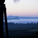 Misty morning view from your deck at Nabana Lodge