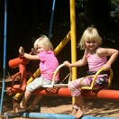 Children having fun in the safe play area at Nabana Lodge
