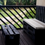 Deck furniture at Nabana Lodge near Hazyview and Kruger National Park